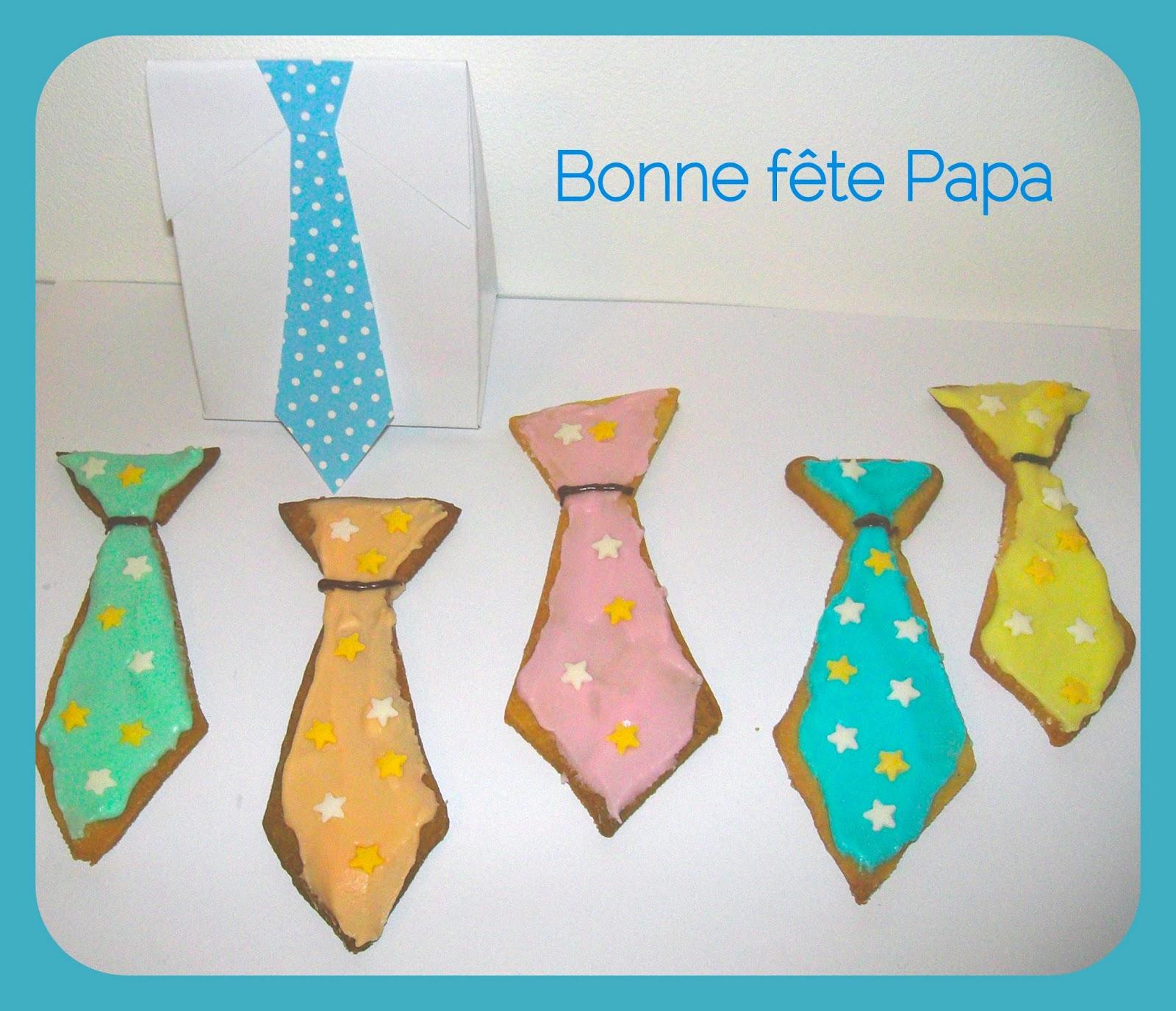 Gabulle in wonderland sabl s cravates pour la f te des p res - Idee dessin fete des peres ...