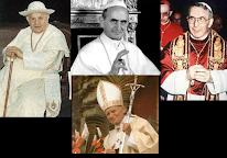 Corregido: Los 4 Antipapas del concilio vaticano II en paralelo con los falsos sumos sacerdote