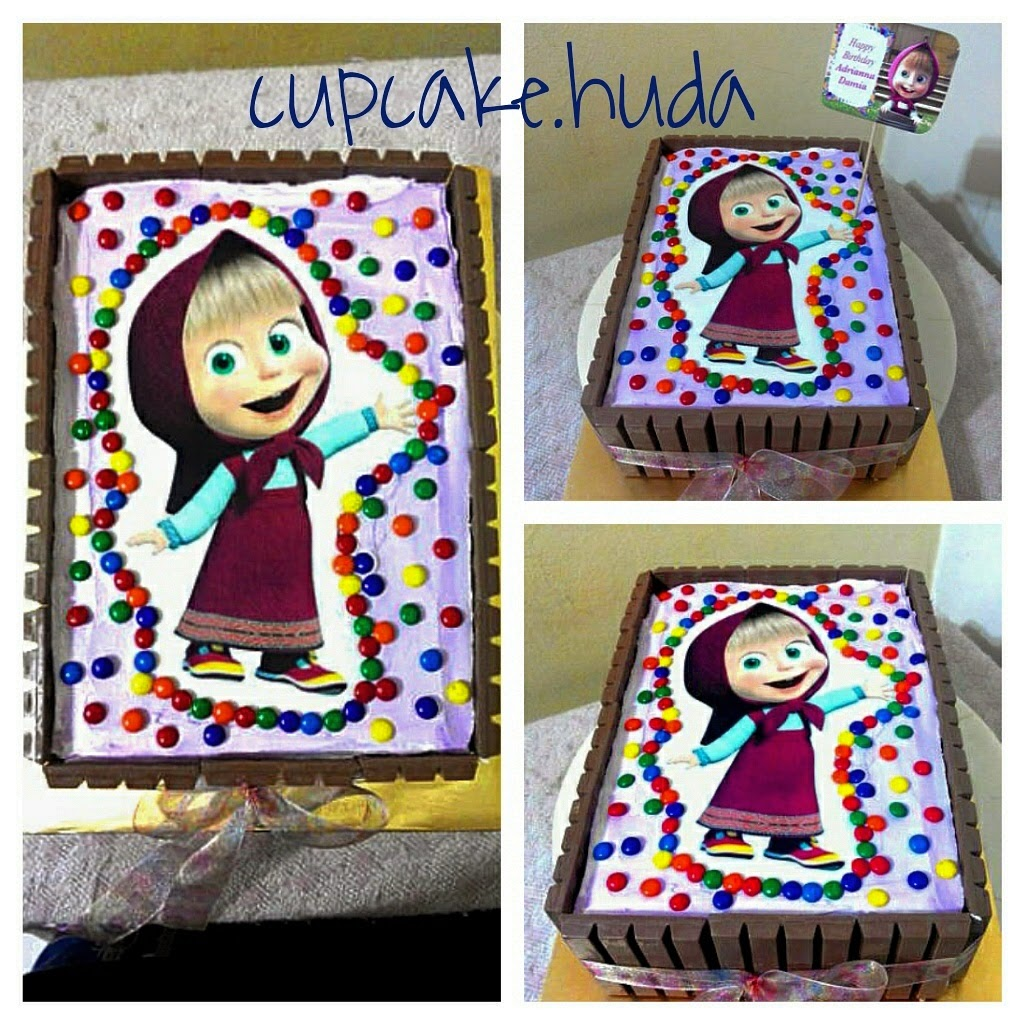 Masha and the Bear Happy Birthday Adrianna Damia cupcake huda