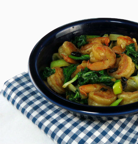 One Year Ago Today: Stir-Fried Shrimp with Black Beans and Bok Choy
