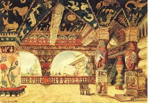 """Viktor Vasnetsov'un """"Berendi Sarayı"""" tablosu"""