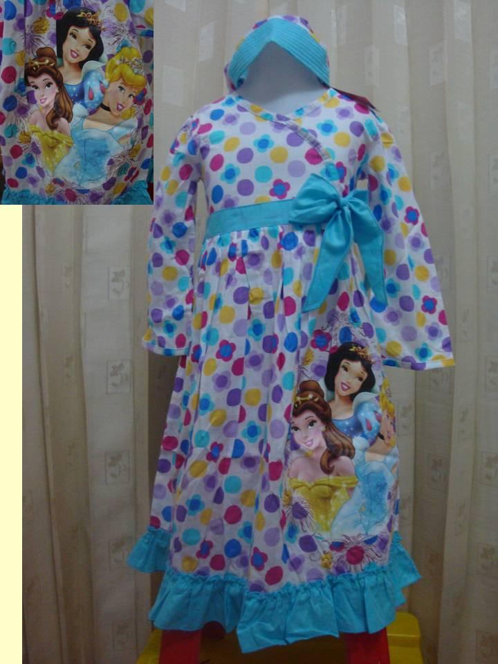 Toko online naysal baju muslimah anak disney princess Baju gamis anak aliza