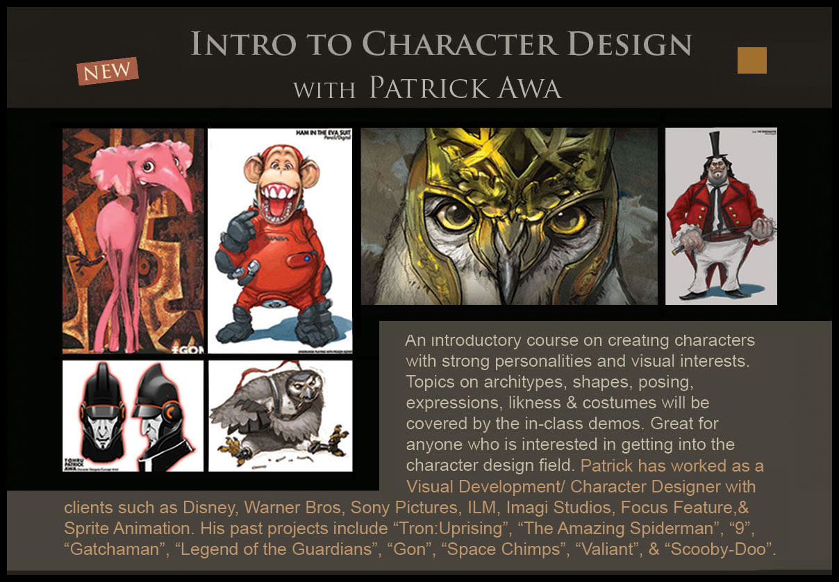 Character Design Class : Quot intro to character design class concept academy