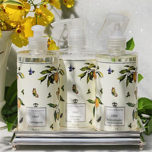 Tania Bulhões linha Chef Sabonete perfume e detergente para casa