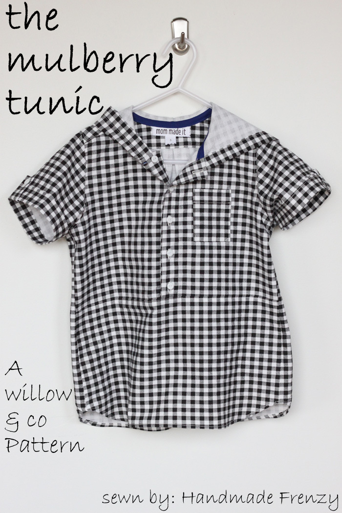 The Mulberry Tunic - A Willow & Co Pattern