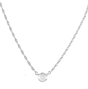 white topaz solitaire necklace
