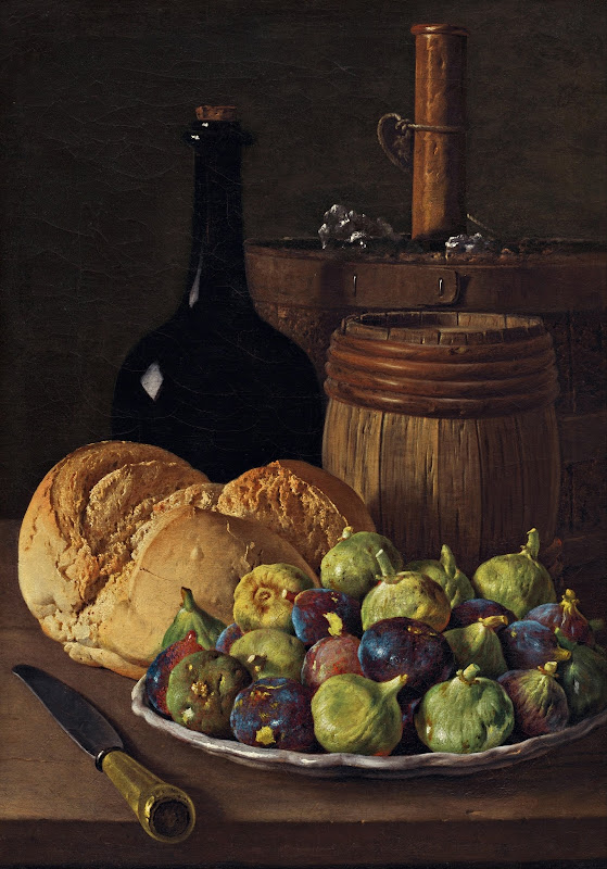 Luis Meléndez - Still Life with Figs and Bread (c.1770)
