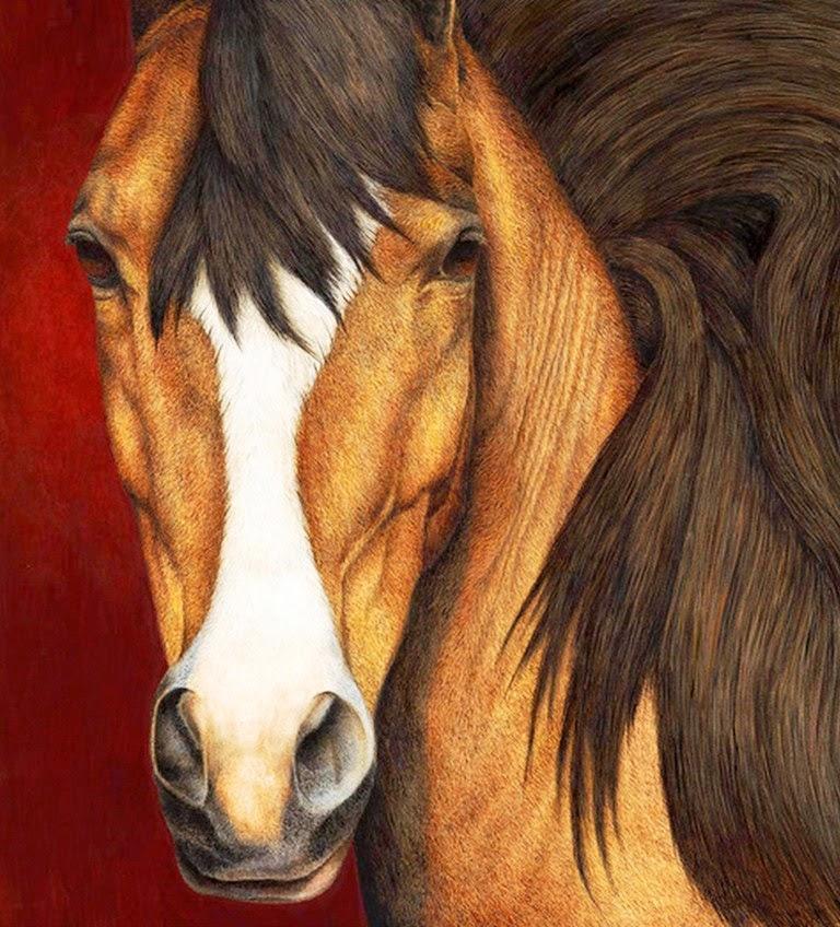 cabezas-de-caballos-pintados-con-acuarela