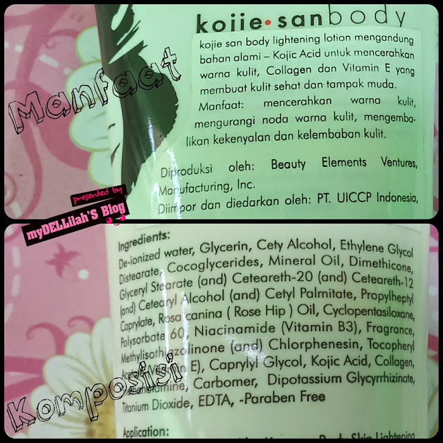 Kandungan Kojiesan Body Lightening Lotion