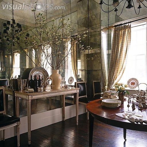 Eye For Design: Decorate With Mirrored Walls