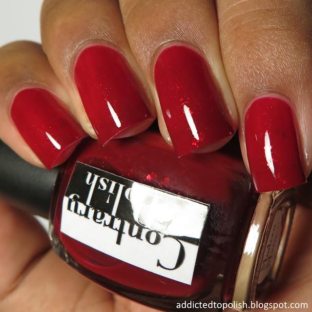 contrary polish modern maroon