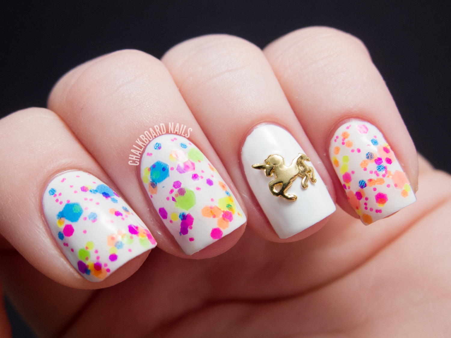 Hex Nail Jewelry (+ Giveaway - CLOSED) | Chalkboard Nails | Nail Art ...