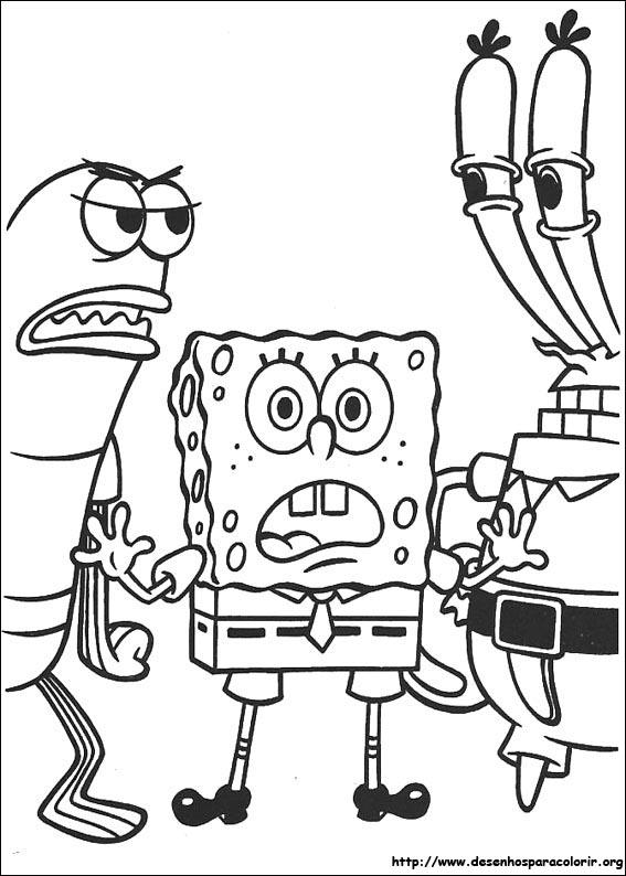 a desenhar Bob esponja alegre com sua turma para copiar colorir
