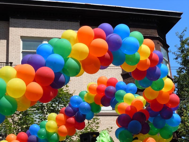 Vancouver Pride Parade balloons