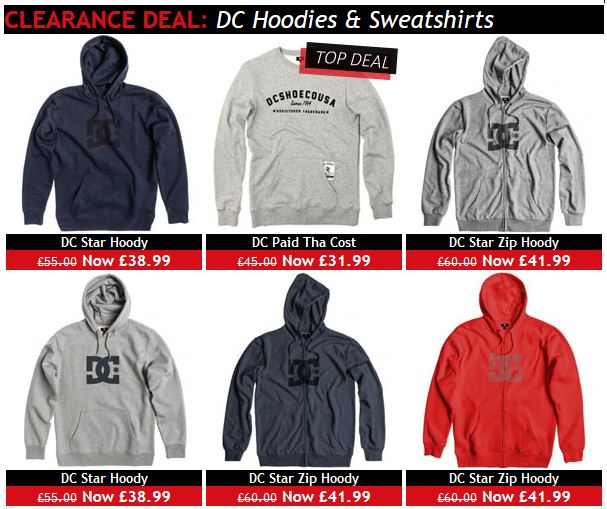 Cheap DC skate hoodies
