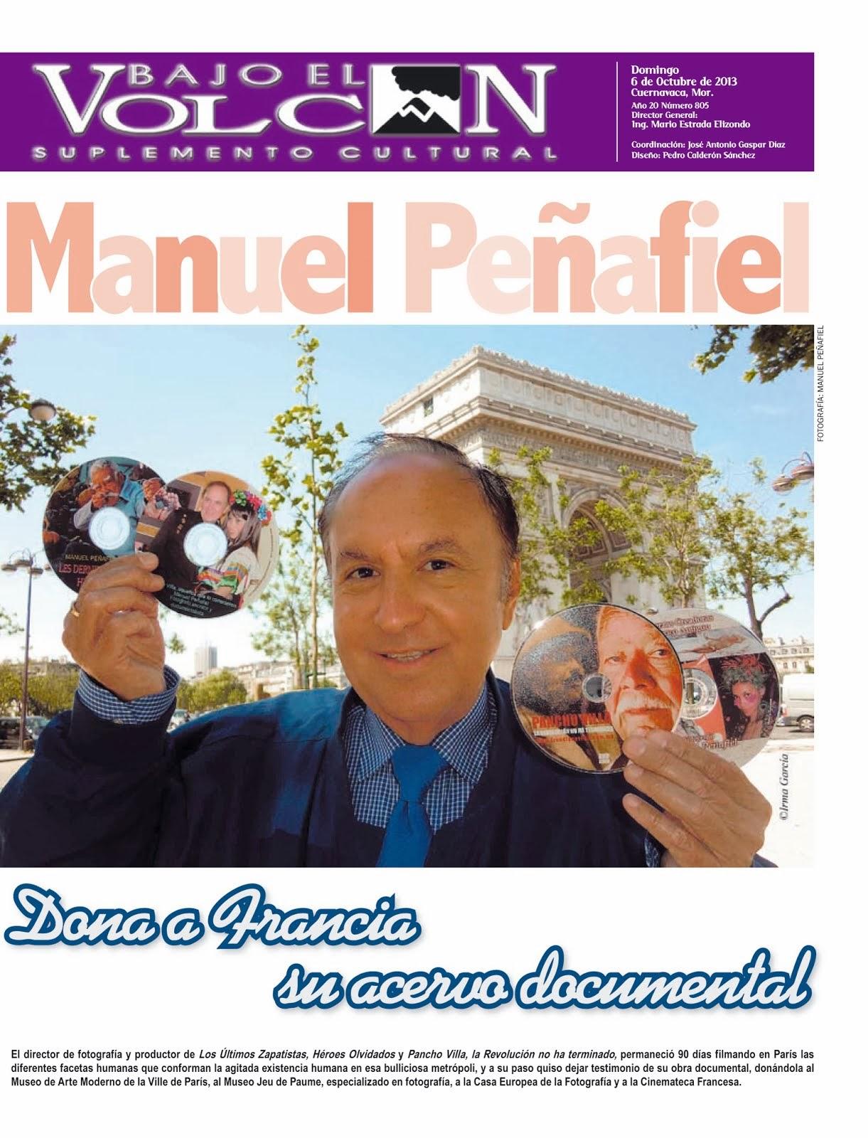 Manuel Peñafiel firma convenio en Francia