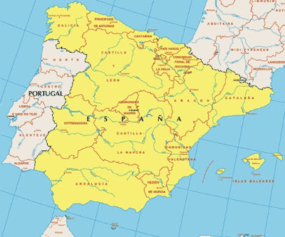 Mappa di Spagna Regionale