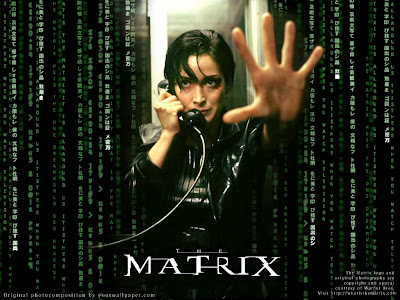 The-Matrix - 1999 Carrie-Anne Moss Trinity with telephone