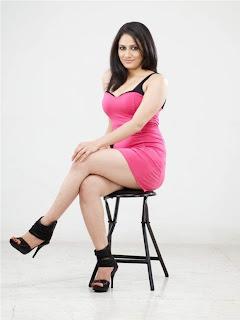 Komal Sharma Spicy New Pics in Short Pink Dress
