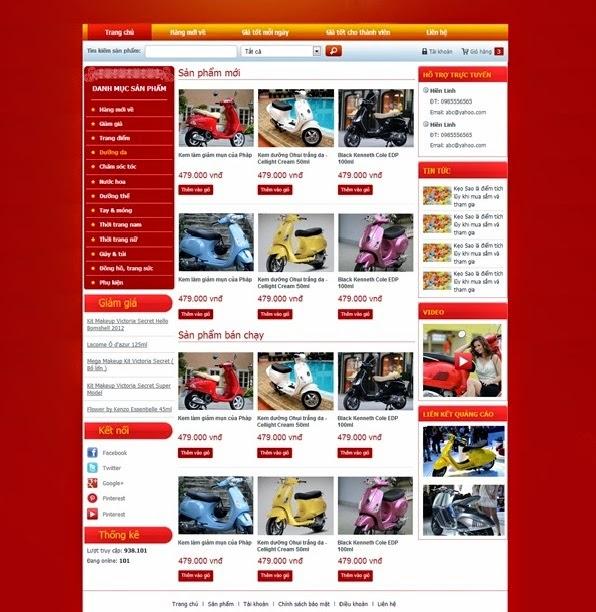 thiết kế website bán hàng xe đạp điện đẹp