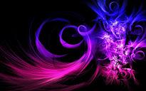 Sueño. Una hermosa montaña de brillantes azules y violetas