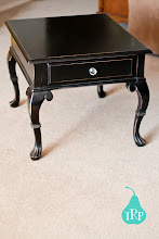 Black end table ($60)