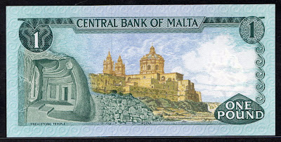 Malta currency lira banknote