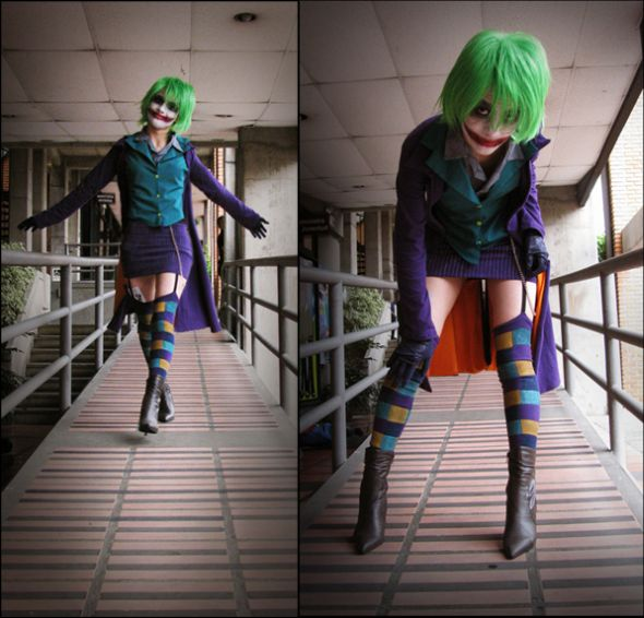 Angela Bermúdez deviantart incríveis cosplays filmes games linda nerd Female version of Joker (inspired by the movie The Dark Knight)