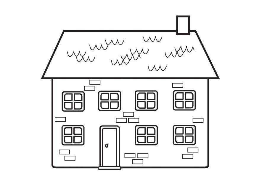 Раскраска дом с окном