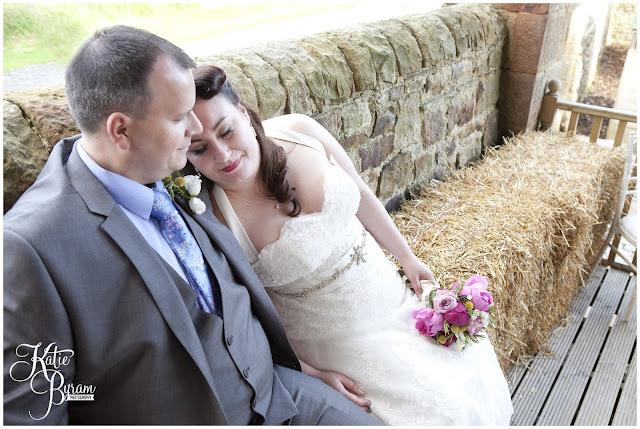 haybale wedding, bride in window, bridal prep, vintage wedding, high house farm brewery wedding, northumberland wedding photography katie byram photography,