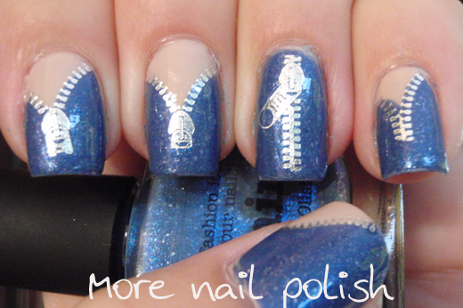 Denim nail polish