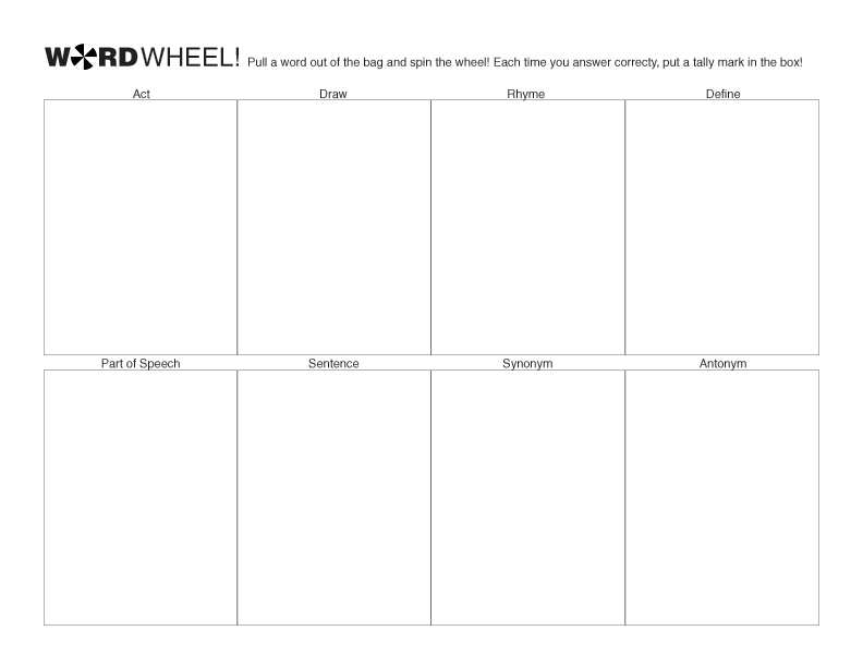 Voting Template For Kids For kids to keep score.