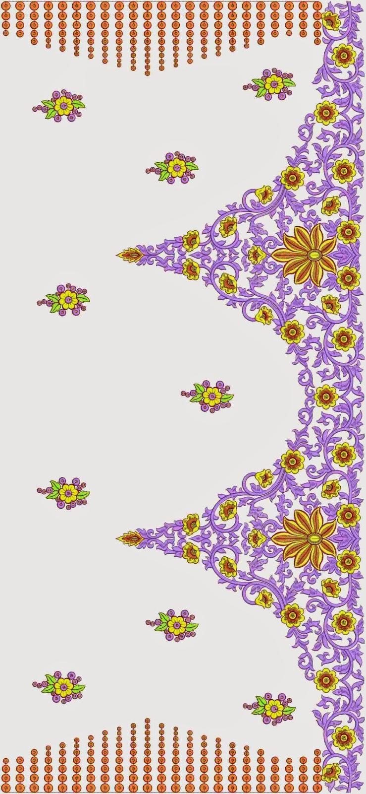 moderne spesiale borduurwerk C Pallu Sari ontwerp