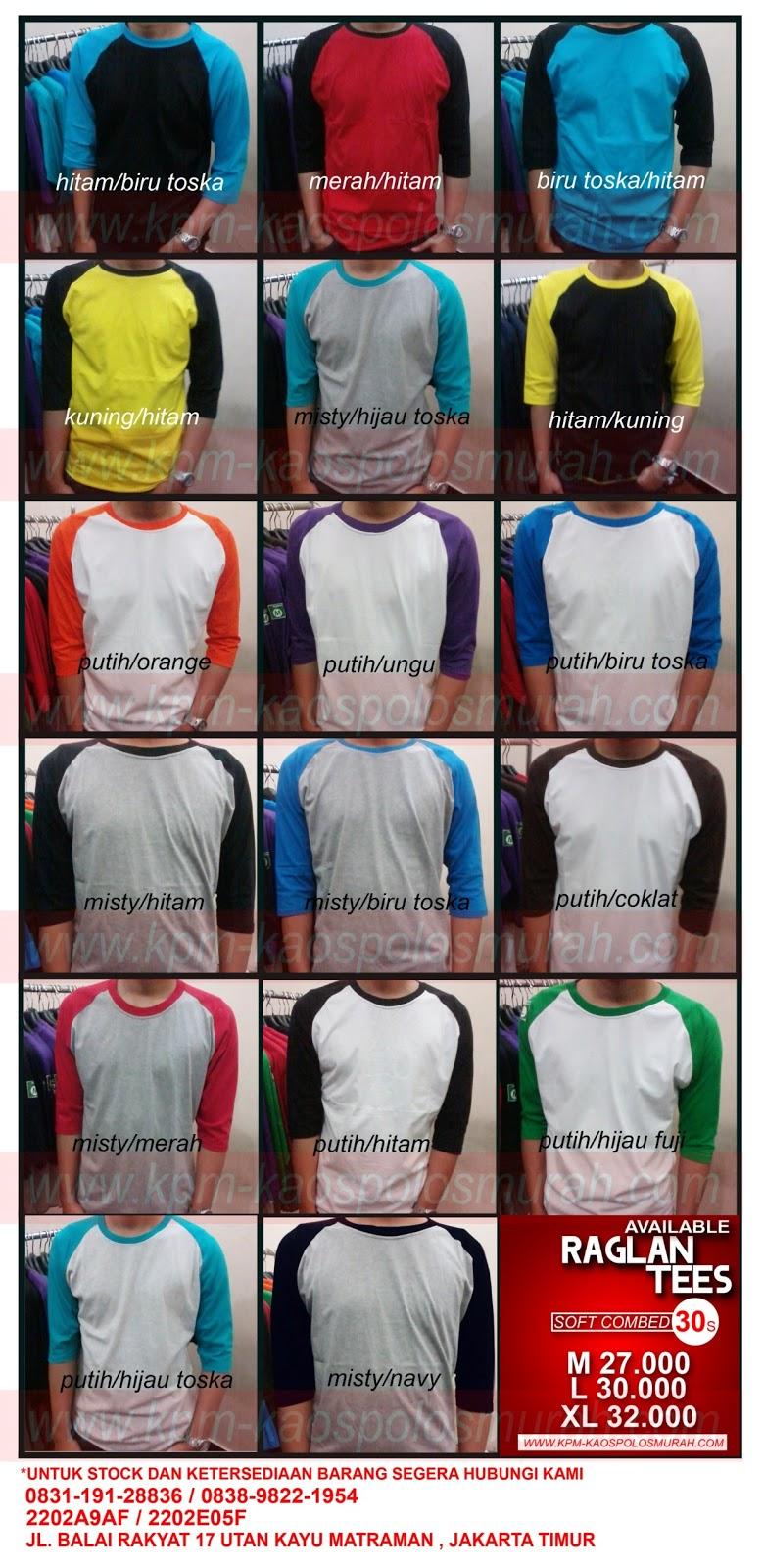 Kpm Supplier Kaos Polos Murah Grosir Combed Dan Jasa Coklat Cotton 30s Raglan 3 4 Banyak Pilihan Warnasoft 20s Unfinish Cut Obras Saja