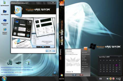 Master ISO Windows XP Dark Edition v.7 SP3 Full Version
