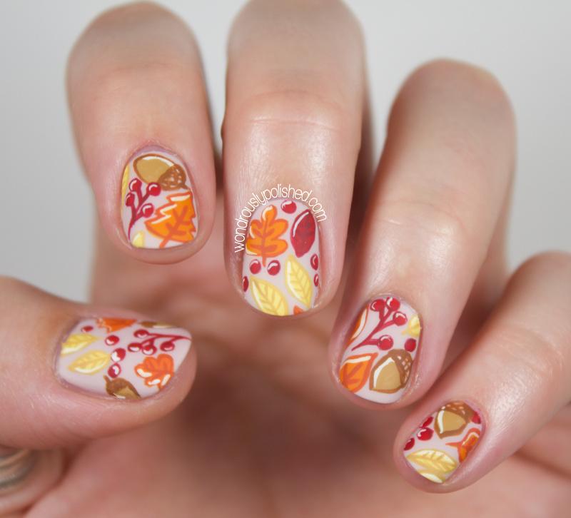 Wondrously Polished: The Beauty Buffs - Fall: Autumn Leaves Nail Art