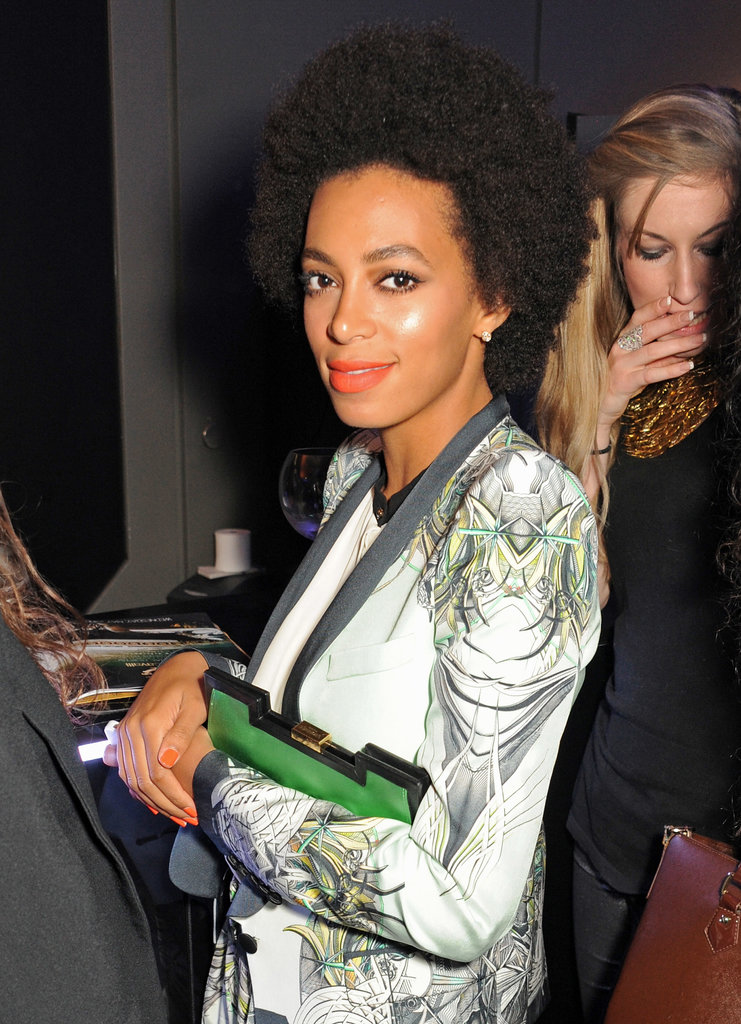 Solange Knowles Cannes 2013 Short Afro Curly Custom Full Lace Human