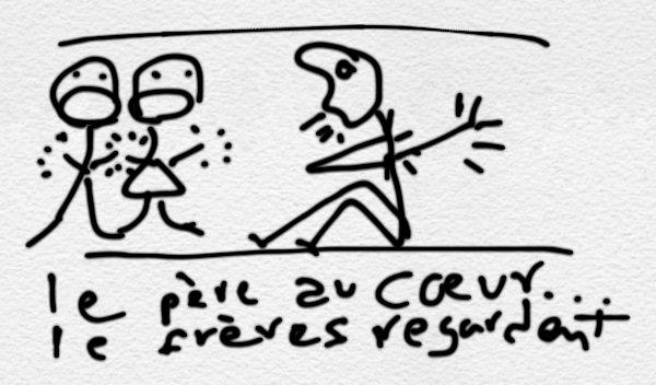 Second Movement: Le père au coeur. Basic or original drawing. Comic Strip