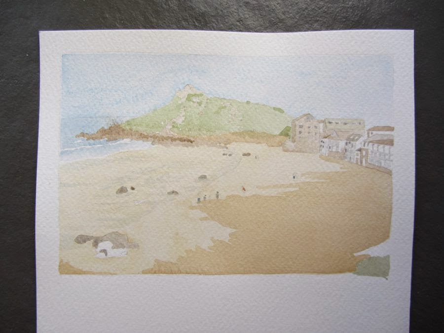 Painting of Porthmeor Beach