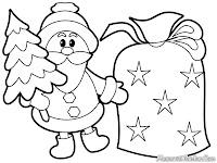 Mewarnai Gambar Santa Membawa Hadiah Natal