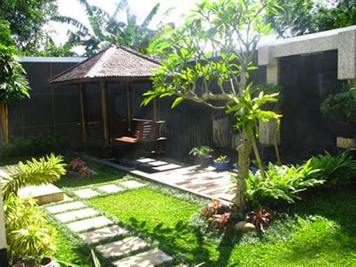 Taman Minimalis Samping, Belakang dan Tengah Rumah