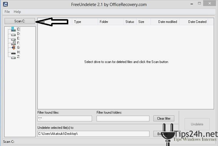 FreeUndelete-Phần mềm khôi phục hiệu quả cho Windows