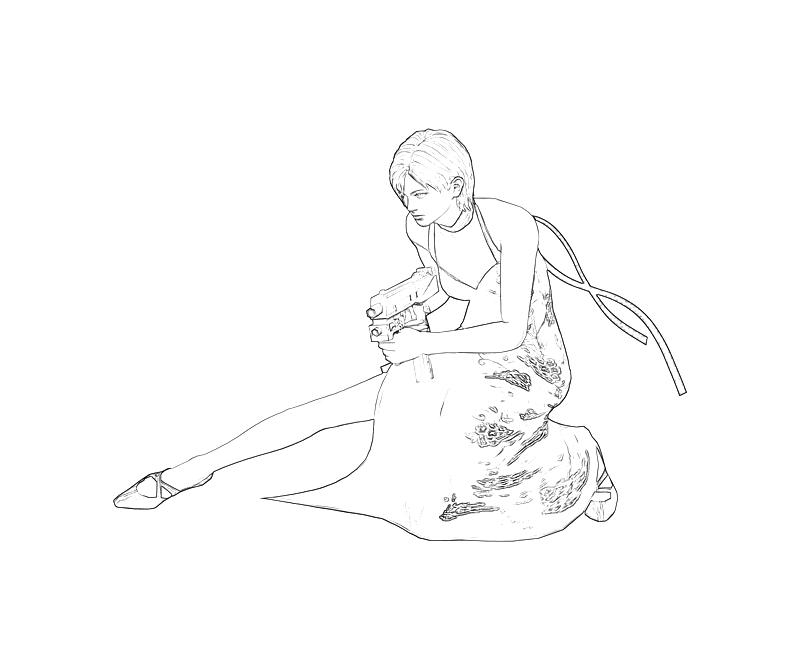 ada wong coloring pages - photo#3