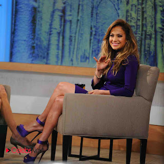 Jennifer Lopez Pictures in Purple Dress at Good Morning America  0006