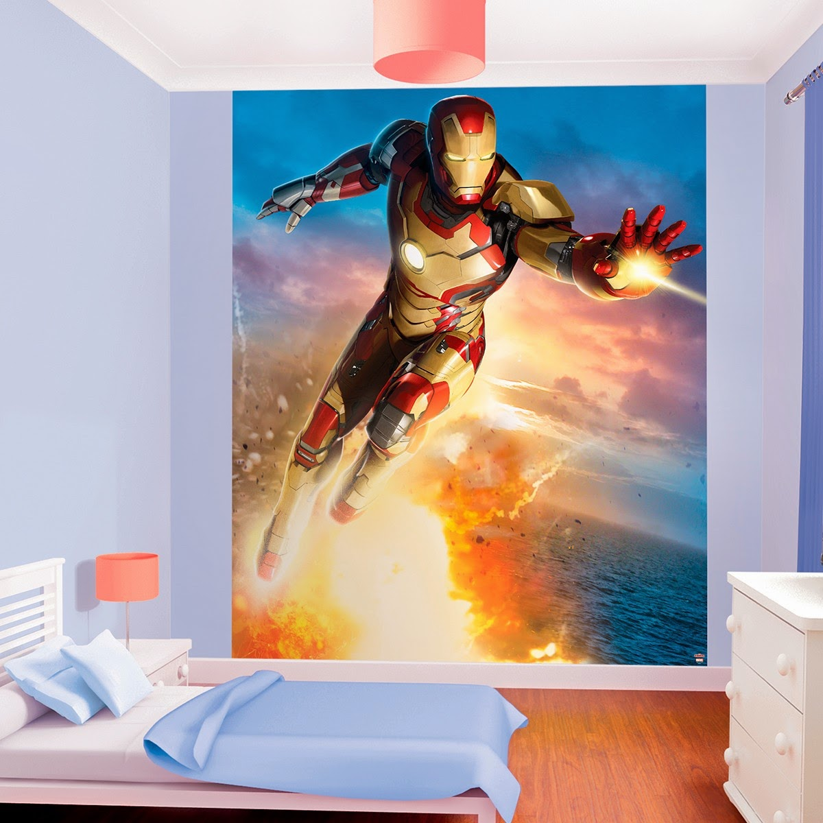 vinilo de pared ironman