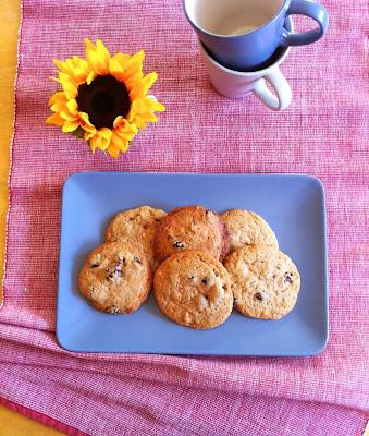 galletas chocolate blanco y arándanos