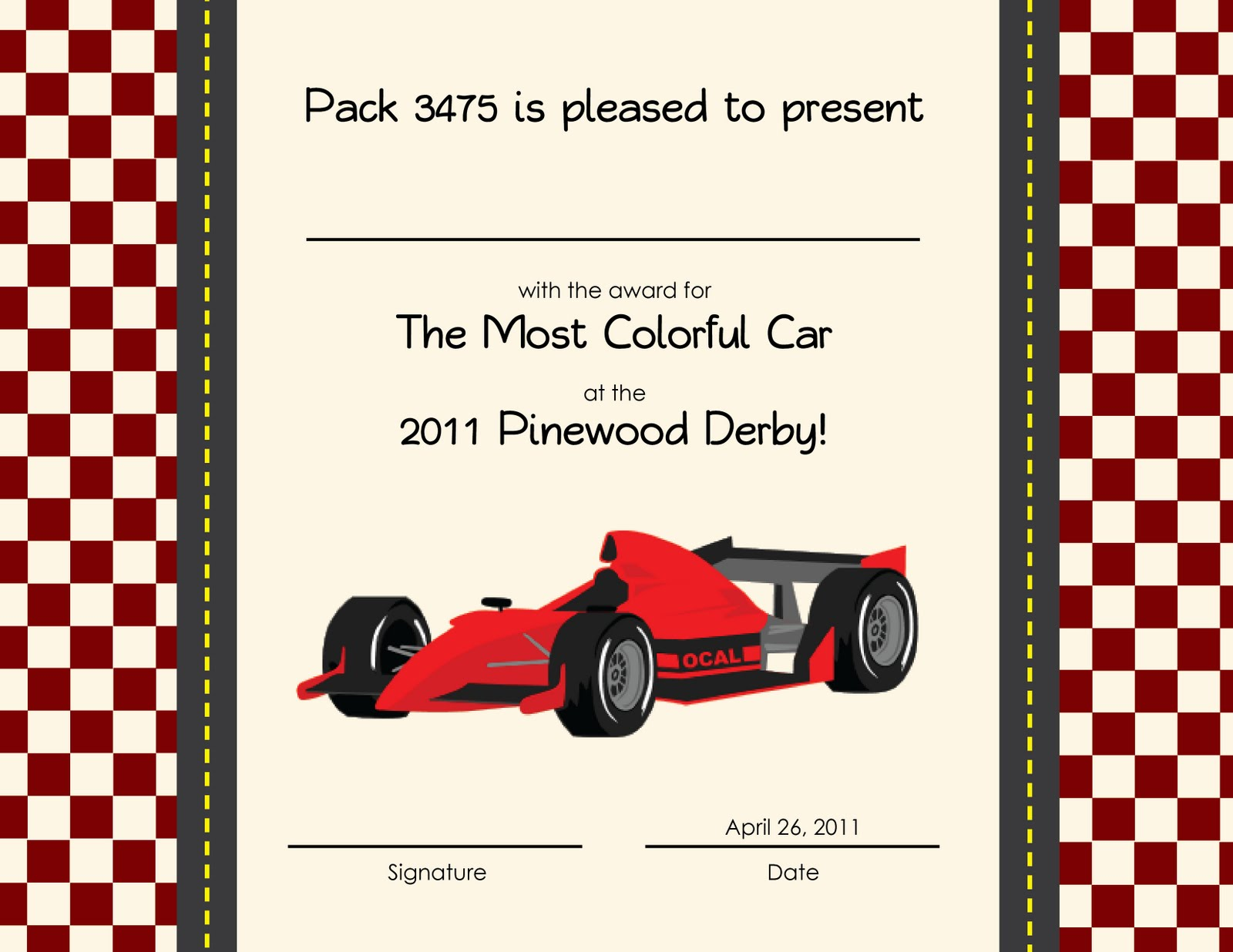 Pinewood derby certificate templates just bcause for Pinewood derby certificate pdf