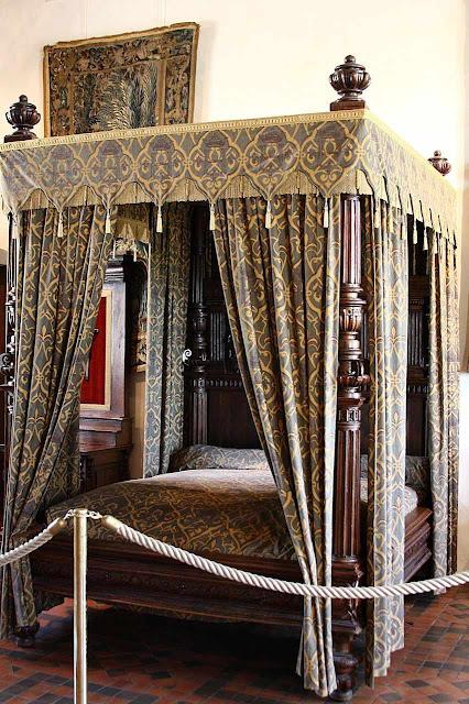Quarto num castelo do vale do Loire