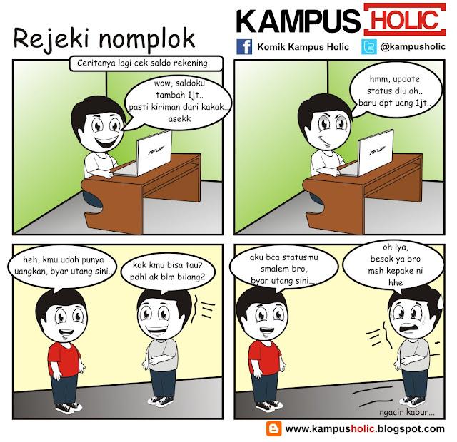 #010 Rejeki Nomplok komik mahasiswa kampus holic