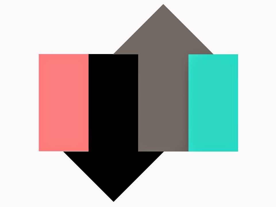 A Color Scheme Graphic In Coral Turquoise Black And Grey